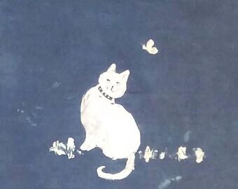 Indigo Resist Cats