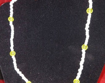 White and yellow hope necklace (reduced was 5.00)