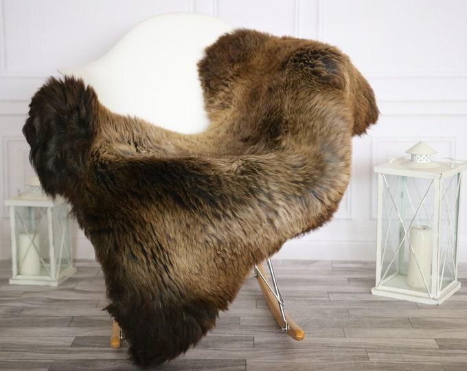 Sheepskin Rug | Real Sheepskin Rug | Shaggy Rug | Chair Cover | Sheepskin Throw |Brown Beige Sheepskin | Home Decor | #HERMAJ50