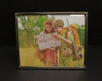 Vintage Ornate Goldtone 8x10 Photo Frame with Moonrise Kingdom (E10175)