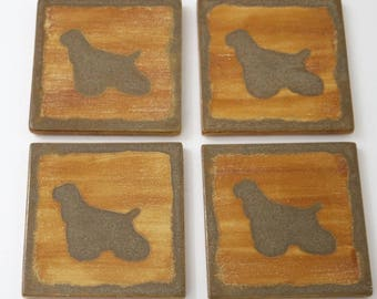 Cocker Spaniel, Ceramic Coasters, Pet Loss Gifts, Drink Coasters, House Warming Gift, Coasters, Illustration,