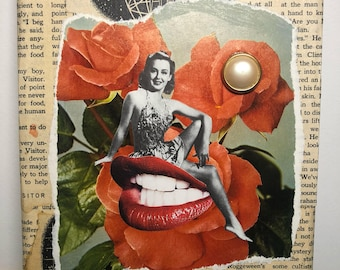 Original Collage Art Canvas
