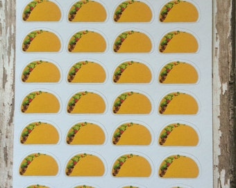 Taco Stickers, Fast Food Stickers, Take Out Food Stickers, Eating Out Stickers, Planner Stickers, C-81.