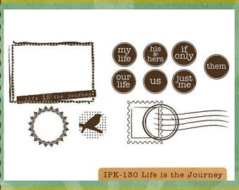 CLEARANCE Ippity Stamps - Life is the Journey