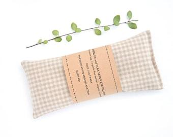 Organic Eye Pillow, Gingham eye pillow, Heating pad, Eye Pillow, Spa Gift, Sleep Aid, Organic flax pillow, Relaxation, Savasana, Eye mask