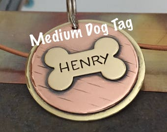 Dog Tags for Dogs | Personalized Dog Tags | Dog ID Tag | Medium Dog Tag | Pet ID Tag | Custom Dog Tag | Custom Pet Tag | Dog Tag | Pet Tag