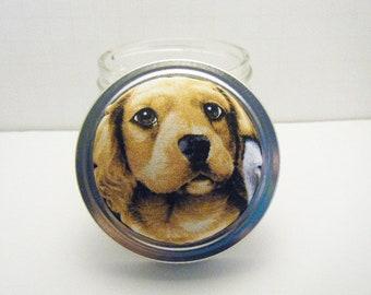 Pin Cushion - Jar - Sewing Kit - Pin Holder - Needle Holder - Sewing Accessory - Puppy Spaniel Pincushion - Dog - Brown - Tan