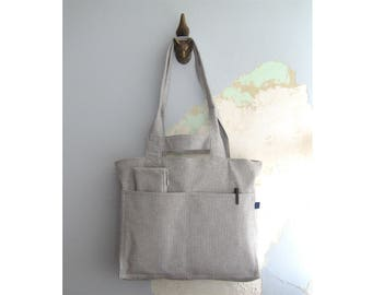 Tote bag & matching pouch - Grey - 2 pieces set