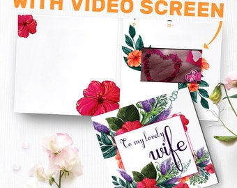 To My Wife Card With Video Screen | Gift For Wife, Wife Gift Idea, Unique Gift Wife, Anniversary Gift 00041