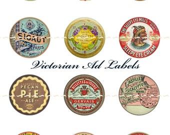 Victorian Labels Milk Tops Magnets Pins Party Favors Magnet or Pin Gift Sets Vintage Labels Fridge Magnets