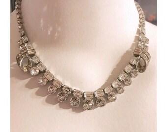 Vintage Schoffel & CO Rhinestone Necklace