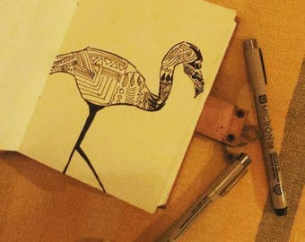Flamingo on Organic Paper
