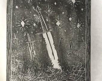 What's Left~ Linocut Prints