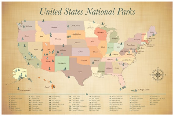 Sale us national parks map push pin adventure map list of sale us national parks map push pin adventure map list of national parks usa travel map adventure awaits wanderlust map 24x36 gumiabroncs Choice Image