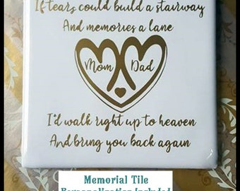 Memory Memorial Day Remembrance Tile Personalized With Stand