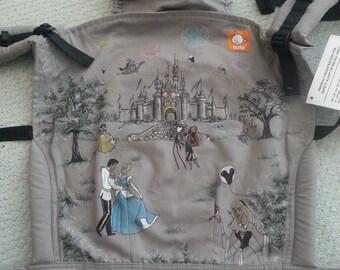 Custom Made Disney Tula baby carrier ARTWORK ONLY With Cinderella, Sleeping Beauty, Snow White, Jack Skellington, Aladdin, Rapunzel, etc