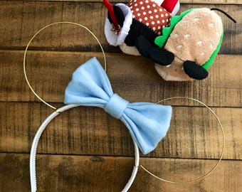 Flannel Bow wire ears