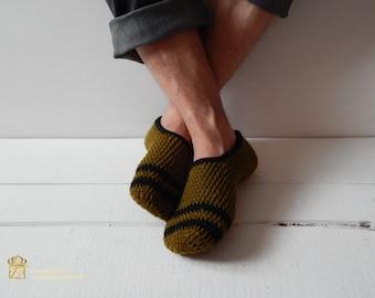 Mens Slippers, Mens House Slippers, Teen Boy Slippers, Gift for Dad, Gift for Men, Gift for Him, Fathers Day, Crochet
