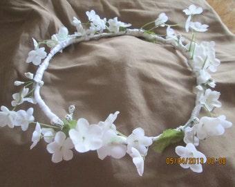 Flower girl wreath - First Communion hair wreath - Wedding hair wreath