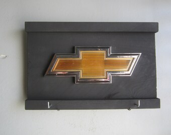 Chevy Bowtie  -  Vintage truck emblem - sign & key hanger