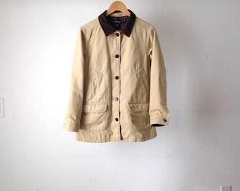 TWIN PEAKS oxford denim CONTRAST corduroy collar 90s jacket flannel lined coat