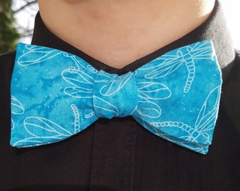 Blue Dragonfly Bowtie, Adjustable