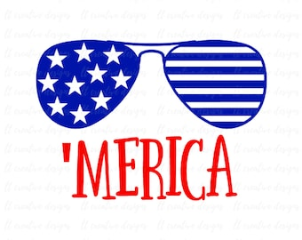 Merica SVG, Fourth of July SVG, 4th of July Svg, Patriotic SVG, America Svg, Svg Files, Cricut Files, Silhouette Files