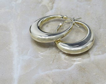 14k Real Gold Hoop Earrings, Real Gold Earrings , Vintage 14k Gold Hoops, Fine Jewelry