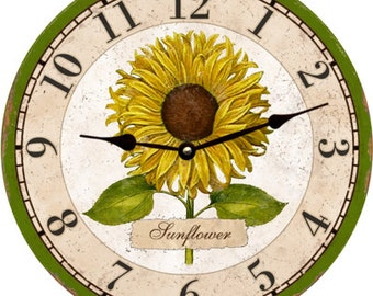 Flower Clock- Flower Wall Clock