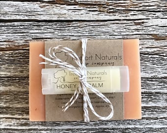 Soap + Lip Balm Gift Set, Mother's Day gift, Holiday gift, teacher gift