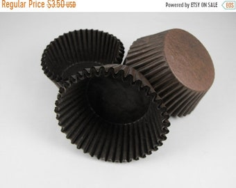 TAX SEASON Stock up 50 Pc Pretty Chocolate brown Cupcake Liners 2X1.25 Inch Size Perfect for Parties