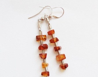 Amber earrings 5g