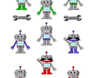 Robot stickers / Planner / planner stickers / scrapbooking