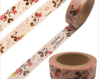 Disney Mickey & Minnie Washi Tape - Paper Masking Tape 15mm ×10m