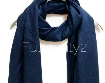 Navy Blue Cashmere Scarf /Autumn Winter Scarf /Gifts For Her /Gifts For Mother /Women Scarf/ Men Scarf /Accessories /Christmas Gifts