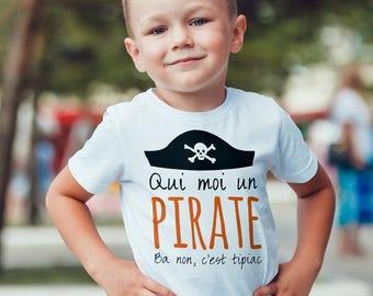 Personalized Kids T-shirt, pirate