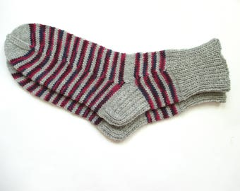 Hand knit socks for women, knit socks, wool socks women, size 7-9 US/38-40 EU