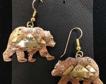 Ursa, the Great Bear earrings. Mixed Metal.