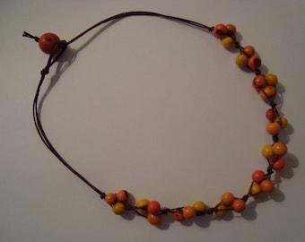 Acais Sun seed Bead Necklace