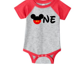 Personalized First Birthday T-Shirt - Personalized Disney Inspired Shirt - Mickey Mouse Inspired First Birthday Party