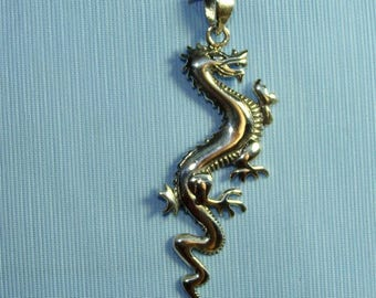 Mystical pendant etsy mystical pendant shiny dragon in sterling silver aloadofball Images