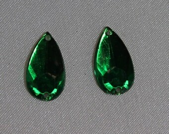 drop-16 mm Green rhinestone