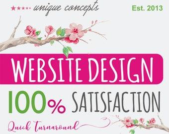 Custom Website Design, Website Design, WordPress, Blogger Website, 5 Page Website, Business Website, Professional Website, Website
