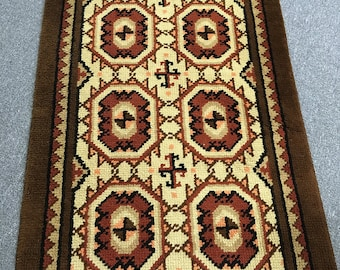 Vintage carpet runners hand knotted 60s