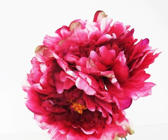 8 dark pink silk peonies big artificial flowers peony pink mightylinksfo
