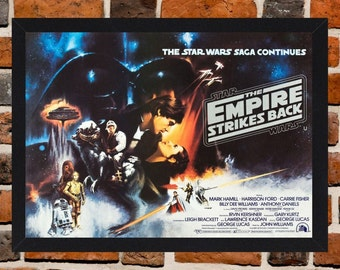 Framed Star Wars: Episode V - The Empire Strikes Back Movie / Film Poster A3 Size Mounted In Black Or White Frame