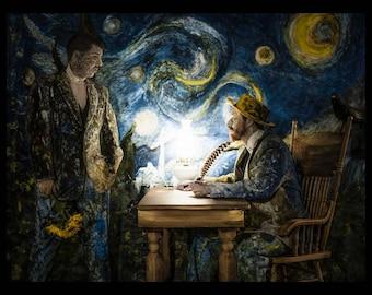 "Vincent Van Gogh Print Fine Art Rolled Canvas ""Brothers"" 11x14 Rolled Canvas Theo Van Gogh Conceptual Photography Artwork"