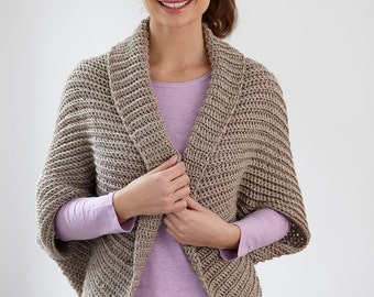 Ribbed Shrug - Crochet