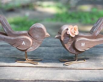 Wedding Love Bird Cake Topper Handmade Rustic Shabby Chic Weddings