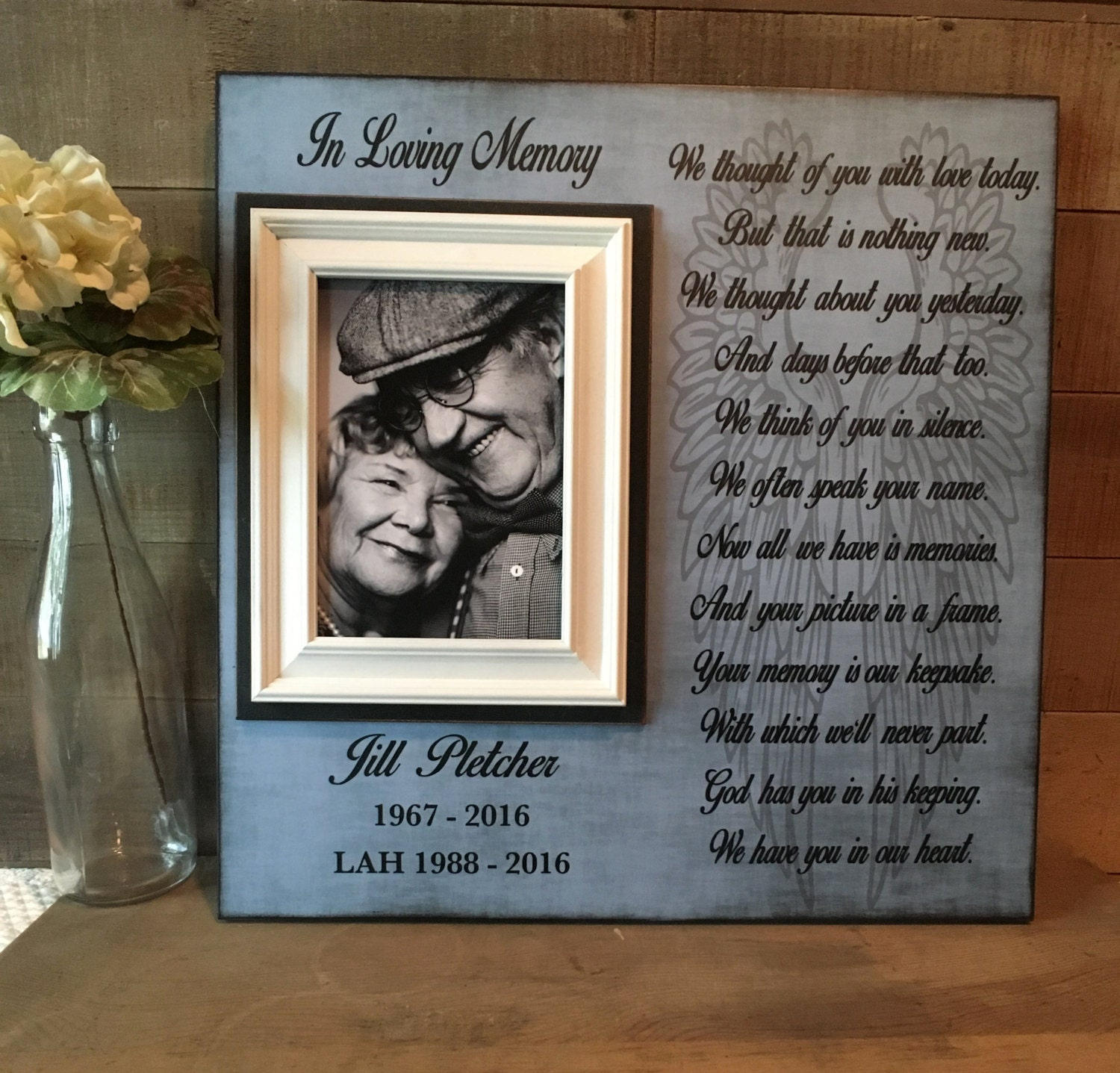In Memory Frame Lost Loved One Loss of Mother Memorial